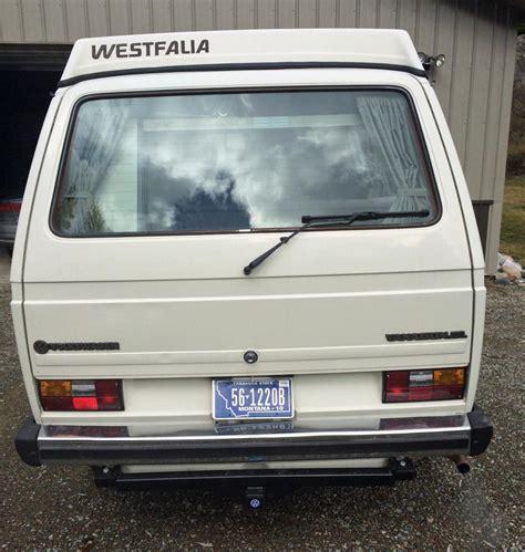 volkswagen westfalia 2015 1985 vw vanagon westfalia cer auction in eureka