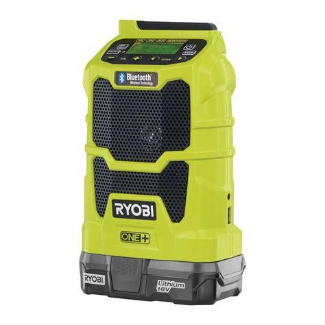 ryobi one 18 volt lithium ion cordless compact radio kit