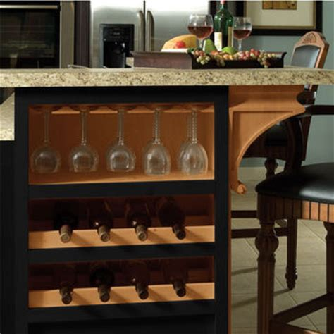 kitchen island with wine storage wooden stemware rack for wine glasses in maple or cherry by hafele kitchensource