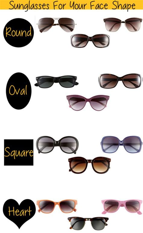 Sunglasses According To The Shape Of Your by 17 Best Images About Choosing The Right Frame For Your