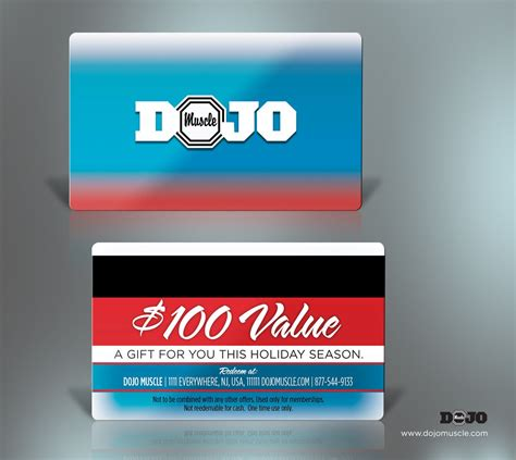 Gift Card Vendor - plastic gift cards holiday style 4 dojo muscle