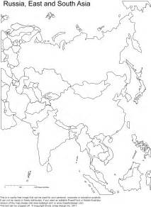 Printable Map Of Asia by Printable Blank Map Asia