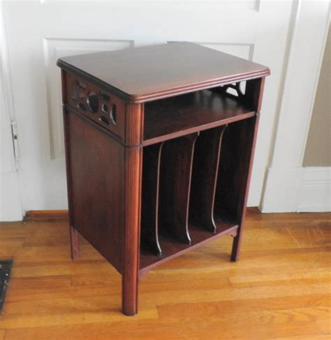 antique record album cabinet vintage record cabinet lp stand ebth