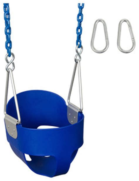 swing seat and chain high back full bucket swing seat with coated chain 5 5