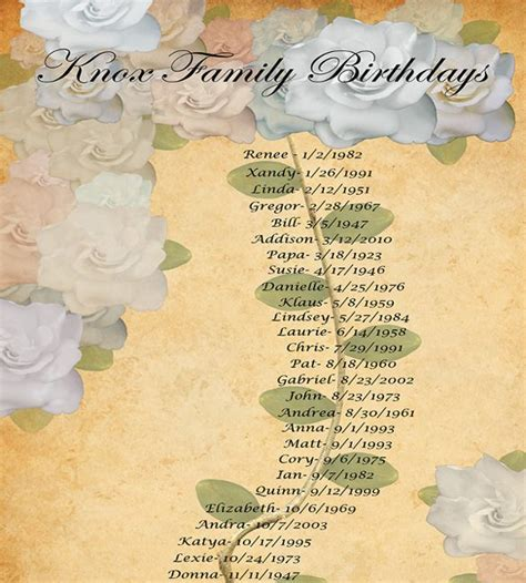 family birthday calendar template 43 birthday calendar templates psd pdf excel free