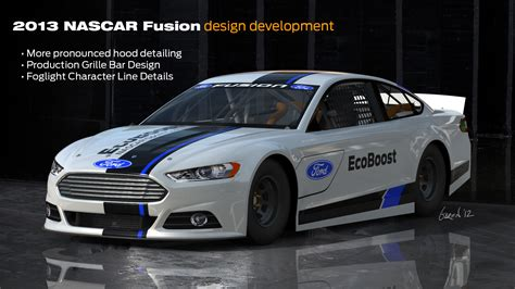 who designed the ford fusion ford design center makes further changes to 13 nascar