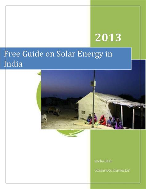 free solar panels india free guide on solar energy india green world investor