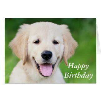 golden retriever puppy cards golden retriever happy birthday cards zazzle