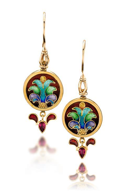 enamel jewelry custom enamel earrings carnivale 11 enamel jewelry by
