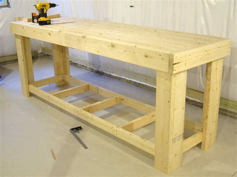 how to build a wooden work bench workbench 2x4 houses plans designs