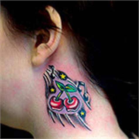 cherry tattoo behind ear meaning 55 cherry tattoo designs their hidden meaning