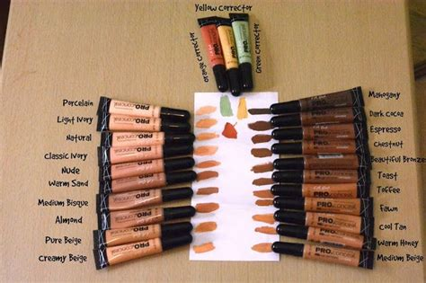 La Pro Highlighter Concealer 24 l a pro hd concealer corrector swatches l a concealer and