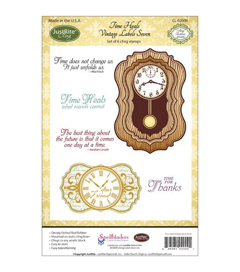 Justrite Papercraft - justrite papercraft cling st set time heals at joann