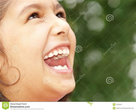 little girl mouth open little girl laughing royalty free stock photography