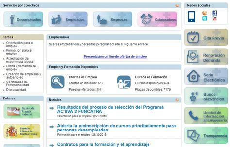 oficina virtual del inem servicio canario de empleo cursos gratuitos encuentra