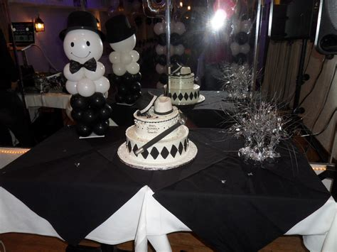 white silver decorating theme black and white table decorations for photograph w