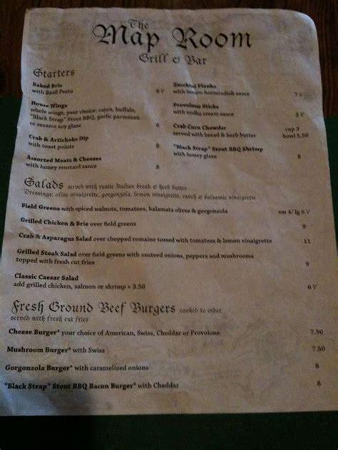 grill room menu map room grill and bar menu menu for map room grill and bar regent square pittsburgh