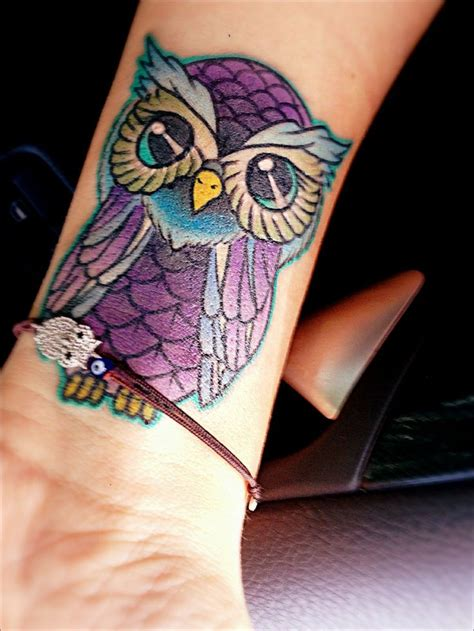 owl tattoo purple purple and blue owl tattoo i fucking love tattoos