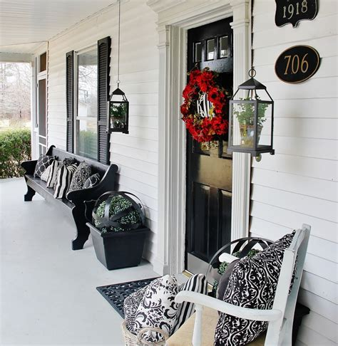 Church Pew Home Decor Spring Porch And Patio Decor Inspirations Blissfully