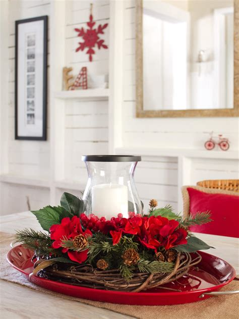how to make a centerpiece how to make a layered holiday centerpiece hgtv