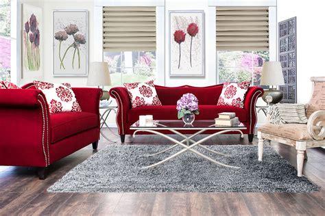 Ruby Living Room Zaffiro Ruby Living Room Set Sm2232 Sf Furniture Of