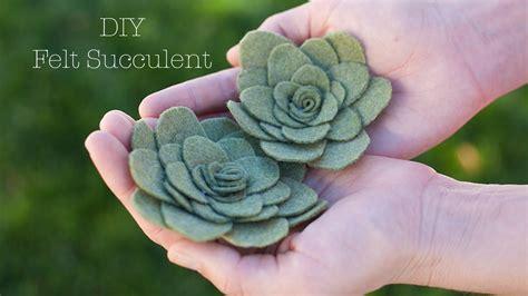 diy succulents diy felt succulent doovi