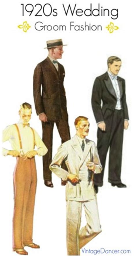 Groom Wedding Attire Options by 1920s Grooms And Groomsmen Attire