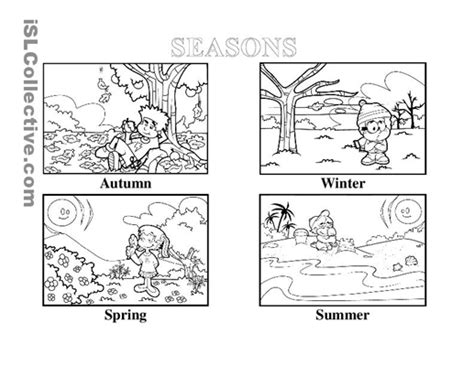 free coloring pages of four seasons of the year