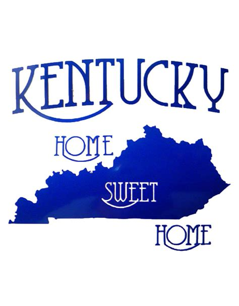 kentucky home sweet home country sticker u s custom