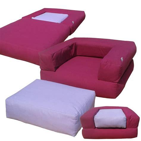 poltrona pouf letto pouf letto futon cubo sfoderabile arredo e corredo