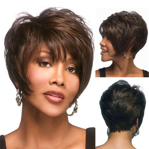 how to color a pixie cut 2015 new brown mixed color layered lambskin short pixie