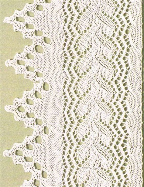 knitting lace in the 89 best images about knitting borders edges on