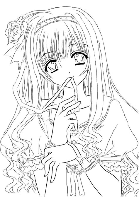 manga girl coloring page awesome anime magical girl coloring pages imagestack