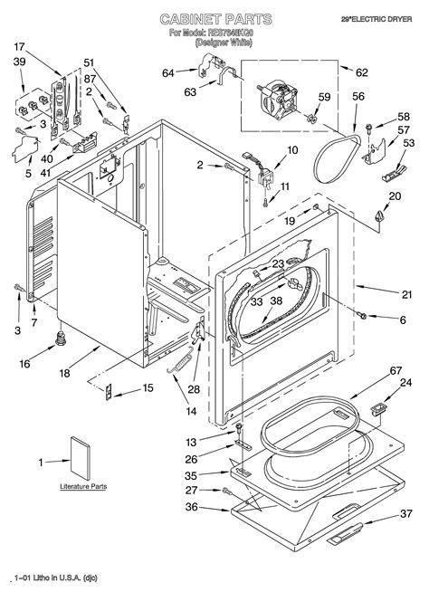 roper dryer diagram roper dryer parts model res7648kq0 sears partsdirect