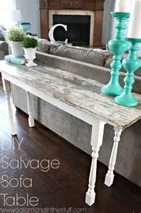distressed sofa tables diy salvage sofa table a diamond in the stuff bloglovin