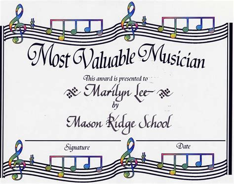 10 best images of musicians certificate designs free