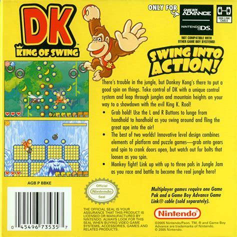 dk king of swing dk king of swing box shot for game boy advance gamefaqs