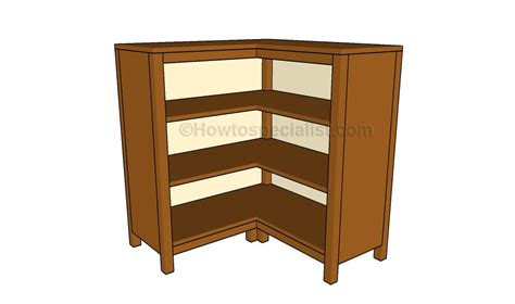 Corner Bookcase Plans Howtospecialist How To Build Diy Corner Bookcase