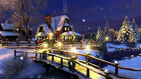 white christmas 3d live wallpaper and screensaver youtube