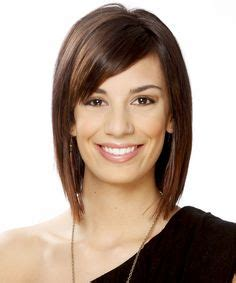 easy to manage short hairstyles with fringe layered lob with side bangs haircuts pinterest