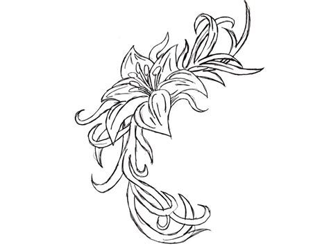 flower tattoo outline designs 30 awesome orchid tattoos designs