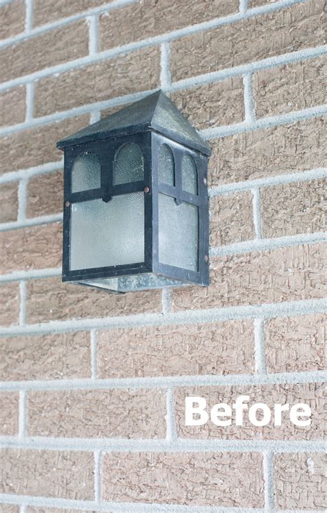 before and after updating a updating outdoor lighting before and after makeover in
