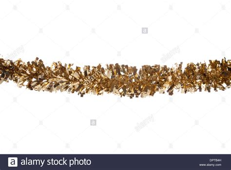 gold christmas tinsel border cutout stock photo royalty