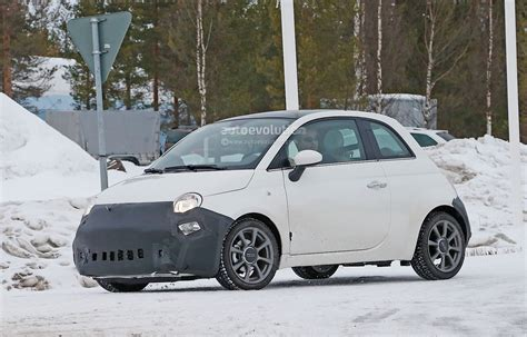 2016 fiat 500 facelift spied in detail during winter