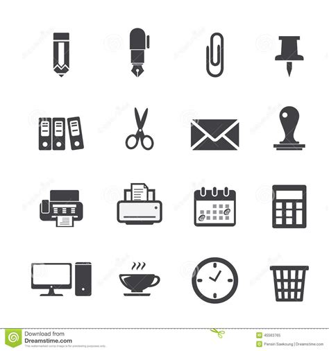 icon design office office icon stock vector image 45563765