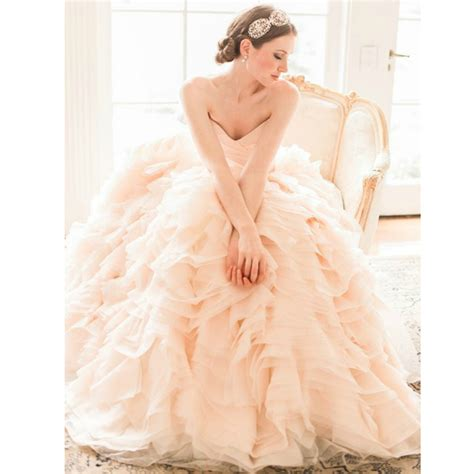 8 Pretty Blush Coloured Clothes by 2015 New Arrival Luxury V Neck Blush Pink Colored Wedding