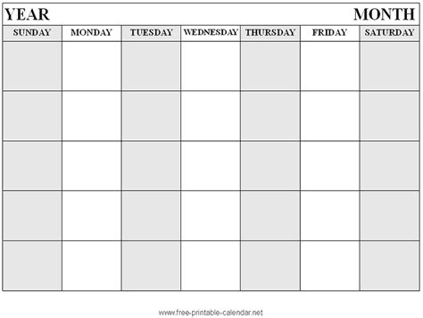 printable calendar with large boxes calendar templates for google docs http