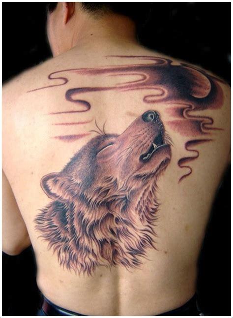 31 Striking Moon Tattoo Designs Wolf With Moon Tattoos