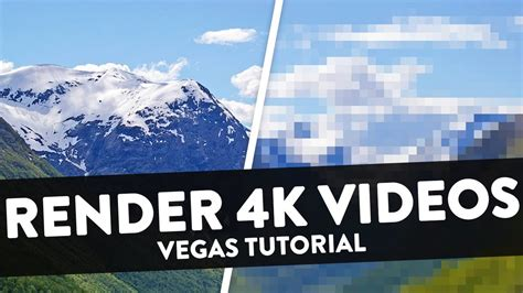 tutorial vegas pro 15 how to render 4k videos for youtube 2018 nvenc gpu