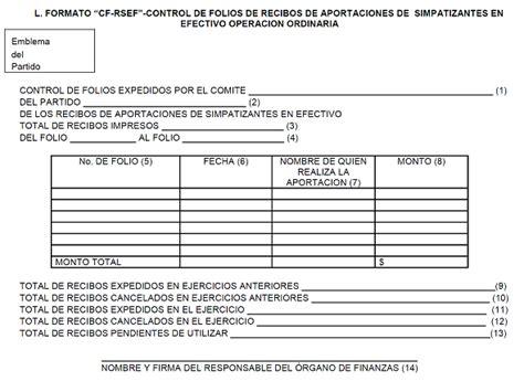 formato de recibo de dinero recibido dof diario oficial de la federaci 243 n